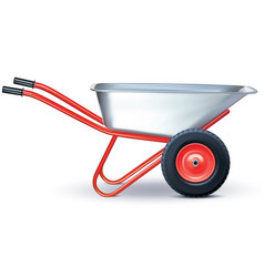 wheelbarrow on white vector image vector image