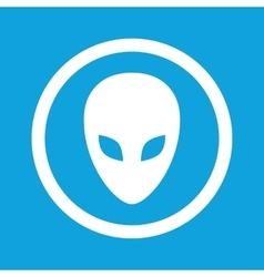 Alien sign icon vector image vector image