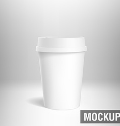 coffee cup white mockup 3d vector image vector image