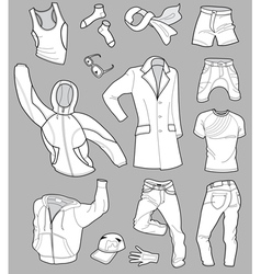 man clothes vector image vector image