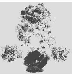Rough hatching grunge texture background vector image