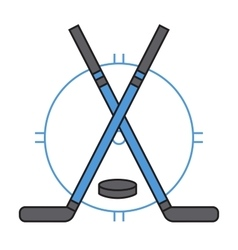 Sport team hockey badge vector image vector image