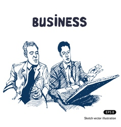 Business discussion vector image vector image