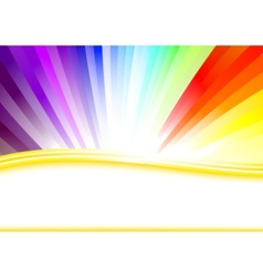 card with colorful rainbow vector image vector image