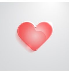 Heart red glass icon vector image