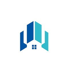 modern house building architecture logo vector image vector image
