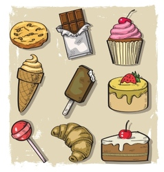 sweet seamless vector image vector image
