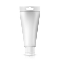 3d realistic cream tube with hang slot vector image