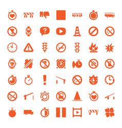 49 stop icons vector image