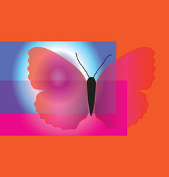 abstract butterfly with translucent wings vector image