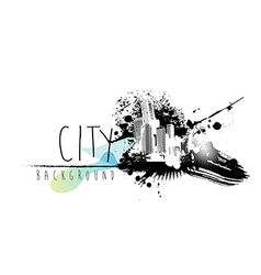 Abstract with city scape and place for your text vector