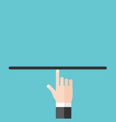 balancing on index finger vector image