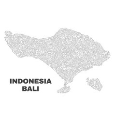 Bali map of dots vector