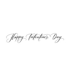 banner with happy valentines day text isolated on vector image