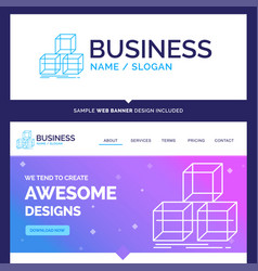 Beautiful business concept brand name arrange vector
