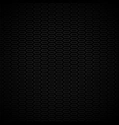black and gray pattern with honeycombs vector image