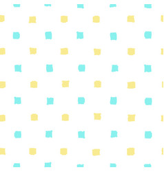 blue and yellow paint squares background vector image