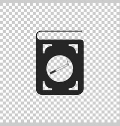 book with cigarette icon isolated vector image