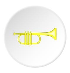 Brass trumpet icon cartoon style vector