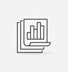 business report with bar chart linear vector image