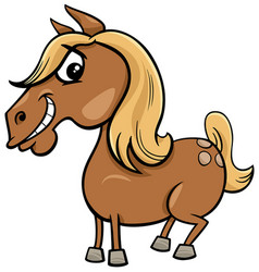 Cartoon horse or pony farm animal character vector