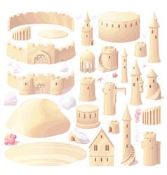 Castle sand sandcastle creator maker vector
