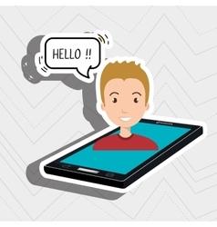 Cellphone man speech speak vector