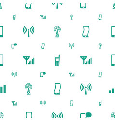 cellular icons pattern seamless white background vector image