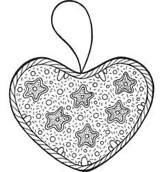christmas decoration for christmas tree - heart vector image