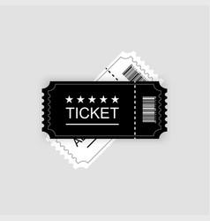cinema ticket gray background vector image