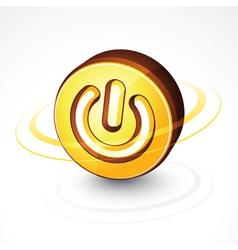 Circular power button vector