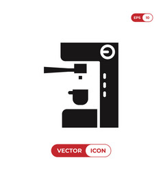 coffee maker machine icon vector image