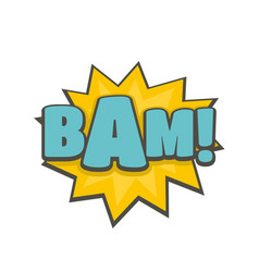 Comic boom bam icon flat style vector