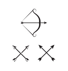 crossbow icon design vector image