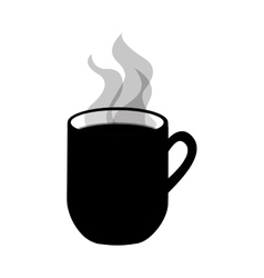 Cup with hot beverage icon image vector