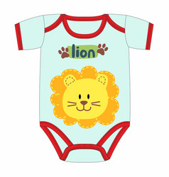 cute clothes for newborn with lion vector image