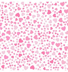 cute little hearts in seamless pattern vector image