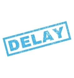 Delay Rubber Stamp vector