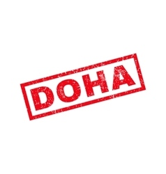 Doha Rubber Stamp vector