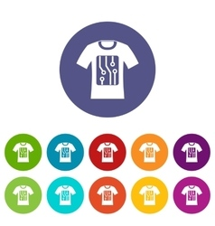 Electronic t-shirt set icons vector image