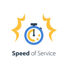 fast time stop watch speed quick delivery vector image