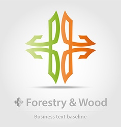 Forestry and wood business icon vector image