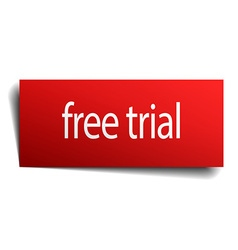 Free trial red paper sign on white background vector