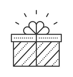 gift box thin line icon vector image