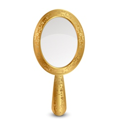 Gold mirror vector