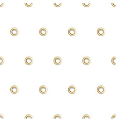 Golden eyelet seamless pattern vector
