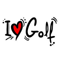 golf love vector image