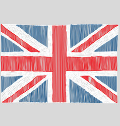 Hand drawn english flag vector