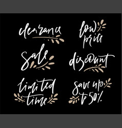 hand drawn promotional design of words vector image