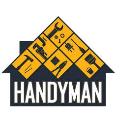 Handyman symbol for business vector